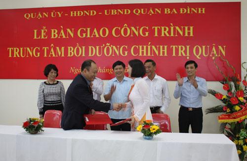 Lễ Bàn Giao Công trình Trung tâm bồi dưỡng chính trị quận Ba Đình
