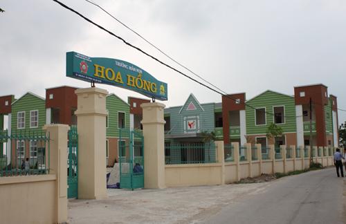 Bàn giao công trình Trường Mầm Non Hoa Hồng